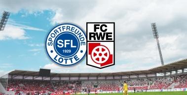 FC Rot-Weiß Erfurt gegen die Sportfreunde Lotte