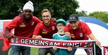 Rot-Weiß Erfurt zu Gast beim Familienfest der Erfurter Genossenschaften
