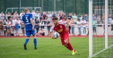 Der RWE schießt sich mit einem deutlichen 5:0 in die nächste Pokalrunde