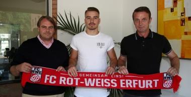 Julian Knoll bleibt beim FC Rot-Weiß Erfurt
