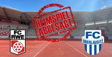 Auch Heimspiel gegen den FC Oberlausitz Neugersdorf abgesetzt