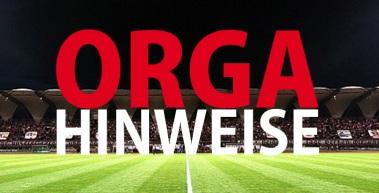 Organisatorische Hinweise zum Heimspiel gegen den SV Wehen Wiesbaden