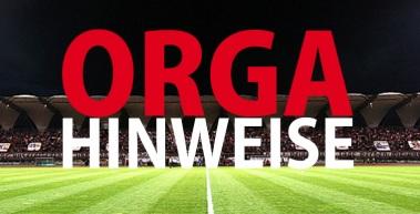 Organisatorische Hinweise zum Heimspiel gegen den Chemnitzer FC