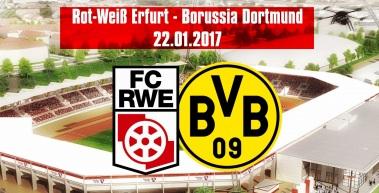 Am 22. Januar 2017 gastiert Borussia Dortmund zur Eröffnungsfeier in Erfurt
