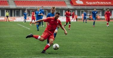 Rot-Weiß Erfurt gewinnt mit 2:1 gegen den VfL Halle