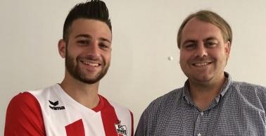 Kevin Pino Tellez unterstützt den FC Rot-Weiß Erfurt